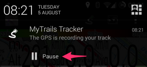 Recording notification