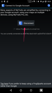 Tap Disconnect, then Connect again